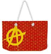 Anarchy Graffiti Red Brick Wall Weekender Tote Bag
