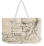 Anatomical Drawing By Leonardo Da Vinci Weekender Tote Bag