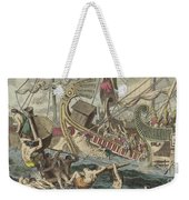 Ancient Greek Sea Battle Weekender Tote Bag
