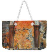 Ancient Italian Fountain Weekender Tote Bag by Charlotte Blanchard