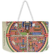 Ancient Map Of Jerusalem And Palestine Weekender Tote Bag by French School