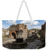 Ancient Pompeii - Bakery Of Modestus Millstones And Bread Oven Weekender Tote Bag