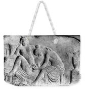 Ancient Roman Relief Carving Of Midwife Weekender Tote Bag