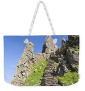 Ancient Steps Leading To Celtic Monastery, Skellig Michael, County Kerry, Ireland Weekender Tote Bag