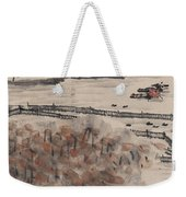 Ancient Town River Paintingancient Town River Painting Weekender Tote Bag