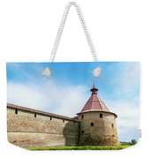 Ancient Wall And Tower Of The Fortress Oreshek Weekender Tote Bag