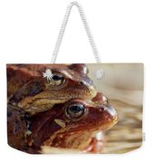 And Then I Found You. European Common Brown Frog Weekender Tote Bag