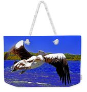 And The Seagull Follows Pelican Weekender Tote Bag