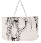 Andalusian Horse Portrait 2015 12 08 Weekender Tote Bag
