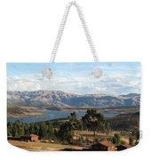 Andes Lake Weekender Tote Bag