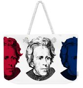 Andrew Jackson Red White And Blue Weekender Tote Bag