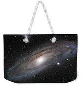Andromeda Galaxy Lightened Weekender Tote Bag