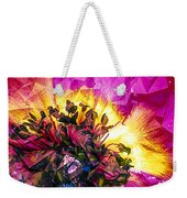 Anemone Abstracted In Fuchsia Weekender Tote Bag