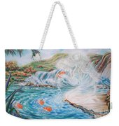 Angel And The Fishes  Flying-lamb-productions  Weekender Tote Bag