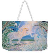 Chloe The Flying Lamb Productions.            Ask The Beasts And They Will Teach You. Weekender Tote Bag