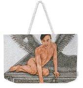 Angel And The Piano Drawing Hnad-drawn Weekender Tote Bag