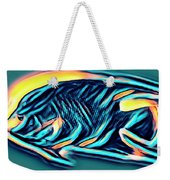 Angel Fish In Turquoise Tones Weekender Tote Bag