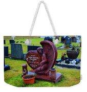 Angel Guarding Grave Hvalsneskirkja Graveyard Iceland Weekender Tote Bag