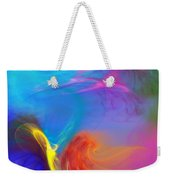 Angel On Lilly Pond Weekender Tote Bag
