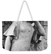 Angel On The Ground At Cavalry Cemetery, Nyc, Ny Weekender Tote Bag
