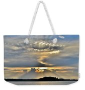 Angel Ray Sunset Weekender Tote Bag