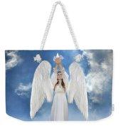 Angel Releasing A Dove Weekender Tote Bag by Jill Battaglia