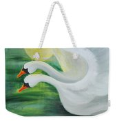 Angel Swans Weekender Tote Bag