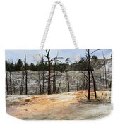 Angel Terrace At Mammoth Hot Springs Yellowstone National Park Weekender Tote Bag