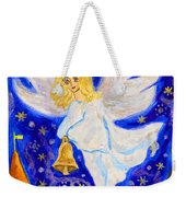 Angel With Christmas Bell Weekender Tote Bag