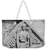 Angel With Scroll Carving Weekender Tote Bag