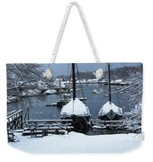 Angelique And Lewis R French In The Snow Weekender Tote Bag
