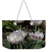 Angelique Peony Tulips Squared Weekender Tote Bag