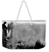 Angels And Brothers Black And White Weekender Tote Bag