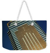 Angled View Of Central Plaza At Sunset Weekender Tote Bag