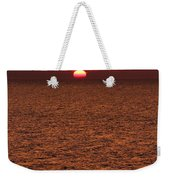 Angler In Summer Sunset Weekender Tote Bag