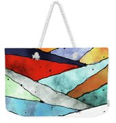 Angles Of Textured Colors Weekender Tote Bag