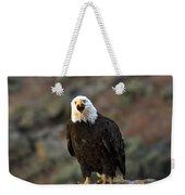 Angry Bald Eagle Weekender Tote Bag