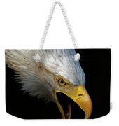Angry Bald Eagle Portrait Weekender Tote Bag