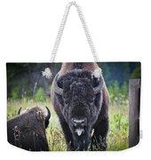 Angry Bison Weekender Tote Bag
