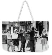 Angry Mob Demonstrating Weekender Tote Bag