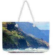 Angry Sea, Na Pali Coast Weekender Tote Bag