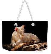 Animal - Cat - A Baby Snow Tiger Weekender Tote Bag