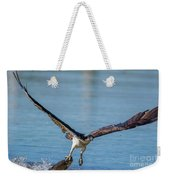 Animal - Bird - Osprey Catching A Fish Weekender Tote Bag