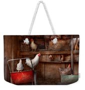 Animal - Chicken - The Duck Is A Spy  Weekender Tote Bag by Mike Savad