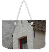 Animal Statue On The Dormer Roof Of A House In Bruges Belgium Weekender Tote Bag
