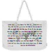 Ann Weekender Tote Bag