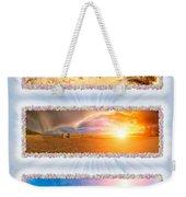 Anna Maria Island Beach Collage Weekender Tote Bag