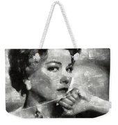 Anne Baxter Vintage Hollywood Actress Weekender Tote Bag