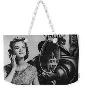 Anne Francis Movie Photo Forbidden Planet With Robby The Robot Weekender Tote Bag