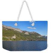 Annecy Lake Panorama Weekender Tote Bag